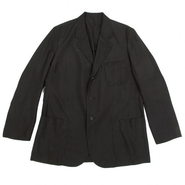 ワイズフォーメンY's for men 赤ラベルシルクテーラードジャケット 黒3【中古】 【メンズ】
