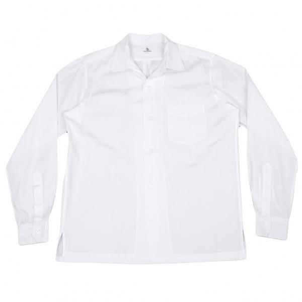 ワイズフォーメンY's for men オープンカラー長袖シャツ 白3【中古】 【メンズ】