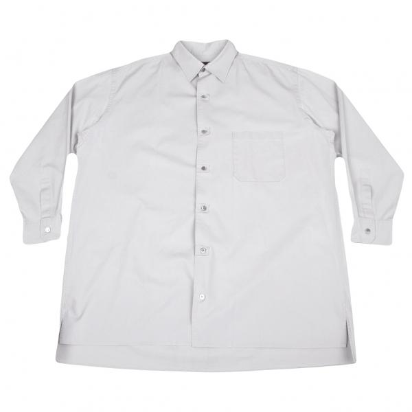 ワイズフォーメンY's for men コットンボタンホールデザインシャツ 淡グレー3【中古】 【メンズ】