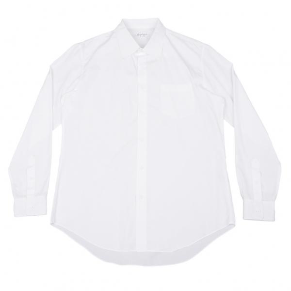 ヨウジヤマモト プールオムYohji Yamamoto POUR HOMME コットンベーシックシャツ 白4【中古】 【メンズ】