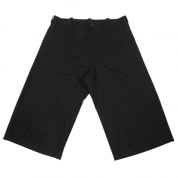 ワイズ Y's クロップドワイドウールパンツ 黒2【中古】 【レディース】