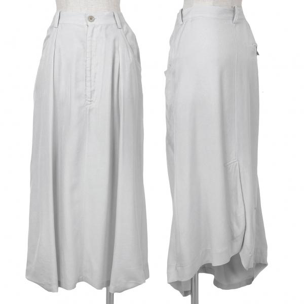 ワイズ Y's レーヨンキュプラデザインスカート ライトグレー2【中古】 【レディース】