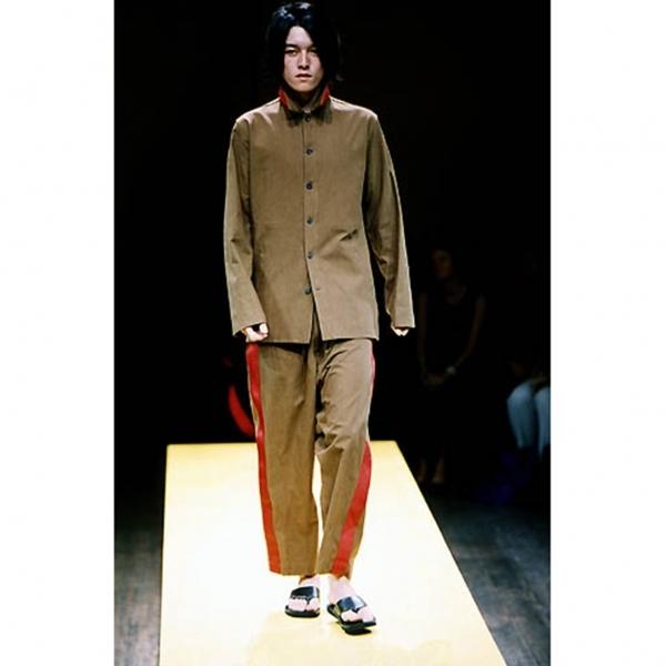 ヨウジヤマモト プールオムYohji Yamamoto POUR HOMME アジアの少年 ベルトデザインリバーシブルシャツジャケット 濃淡茶3【中古】 【メンズ】
