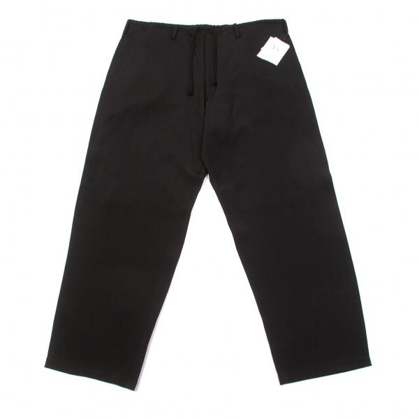 新品!ワイズフォーメンY's for men シルクウエスト紐ワイドパンツ 黒3 【メンズ】