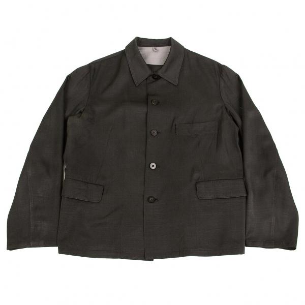 ワイズフォーメンY's for men 赤ラベル シルクオープンカラージャケット 黒2【中古】 【メンズ】