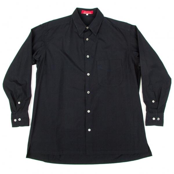 ワイズフォーメンY's for men 赤ラベル コットン長袖シャツ 紺3【中古】 【メンズ】