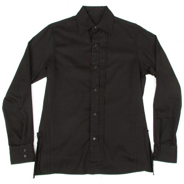 ワイズフォーメンY's for men 切りっぱなし接ぎ合せシャツ 黒1【中古】 【メンズ】