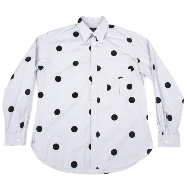 ワイズフォーメンY's for men コットンフロッキードットシャツ ブルーグレー3【中古】 【メンズ】