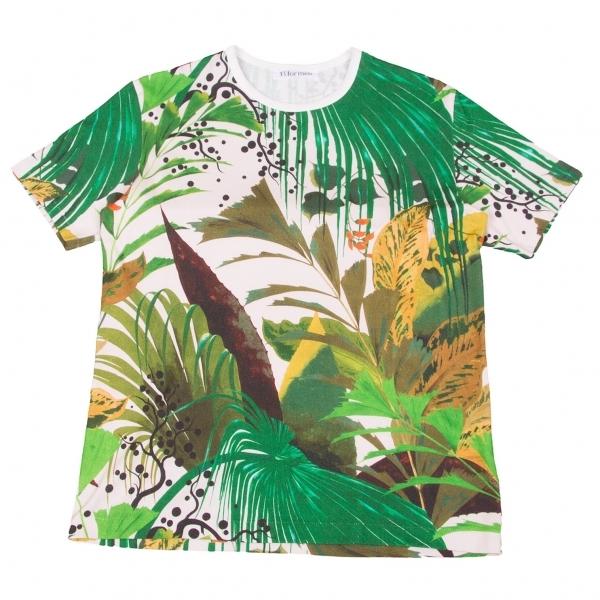 ワイズフォーメンY's for men ジャングルプリントTシャツ 緑マルチ3【中古】 【メンズ】
