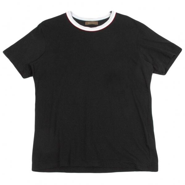 ワイズフォーメンY's for men コットンリンガーTシャツ  黒3【中古】 【メンズ】