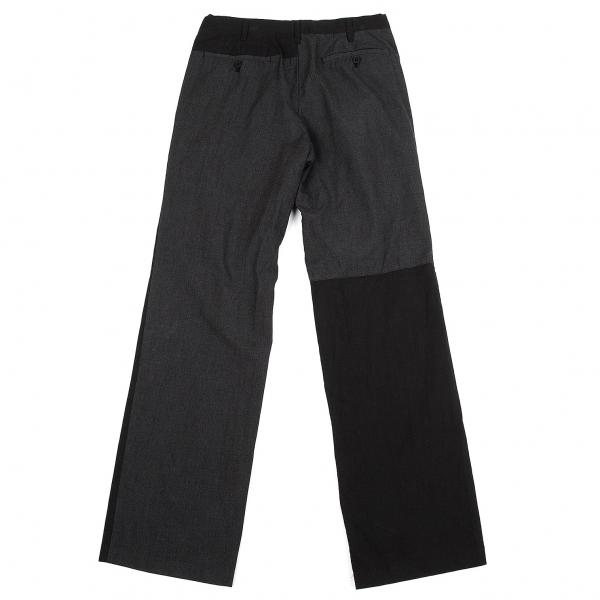 ワイズフォーメンY's for men 製品染めバック切替パンツ 黒チャコール2【中古】 【メンズ】
