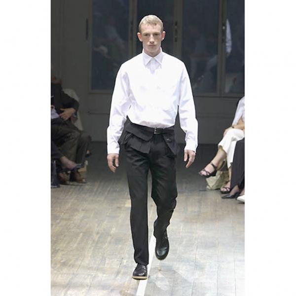 ヨウジヤマモト プールオムYohji Yamamoto POUR HOMME ウールギャバマルチポケットデザインパンツ 黒2【中古】 【メンズ】