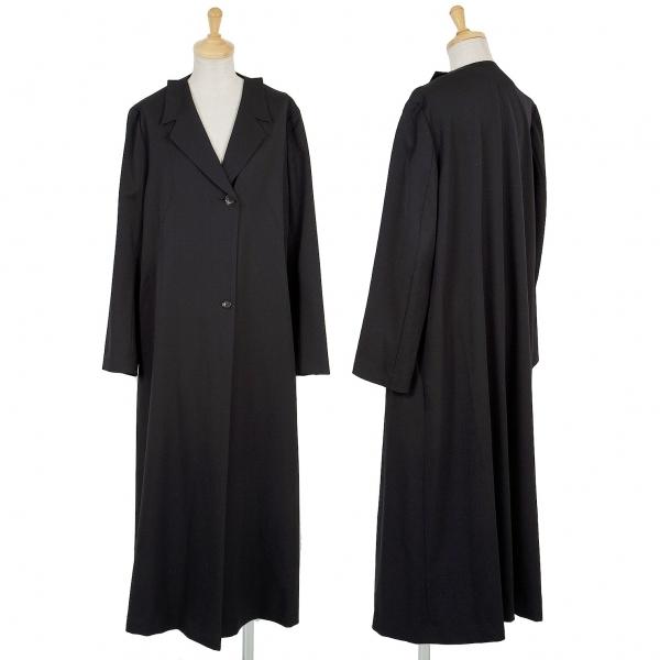 ホンマHOMMA ウールギャバカッティングカラーコート 黒M位【中古】 【レディース】