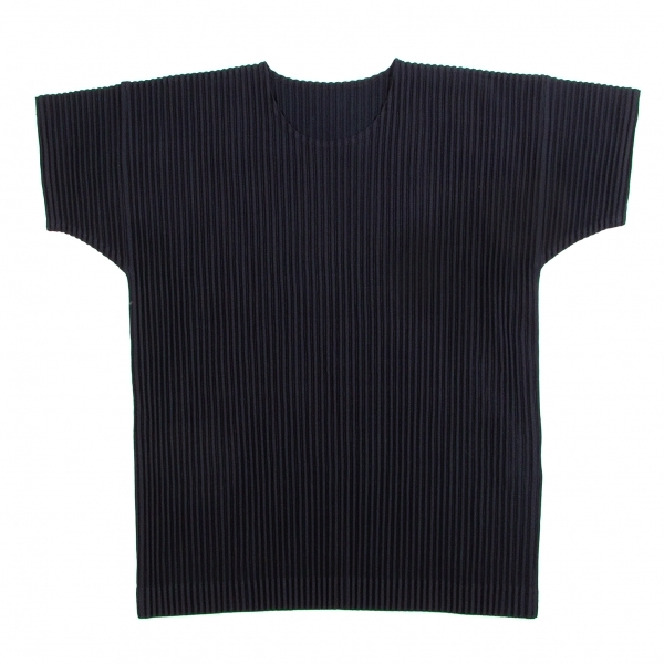 オムプリッセ イッセイ ミヤケHOMME PLISSE ISSEY MIYAKE プリーツTシャツ 紺2【中古】 【メンズ】