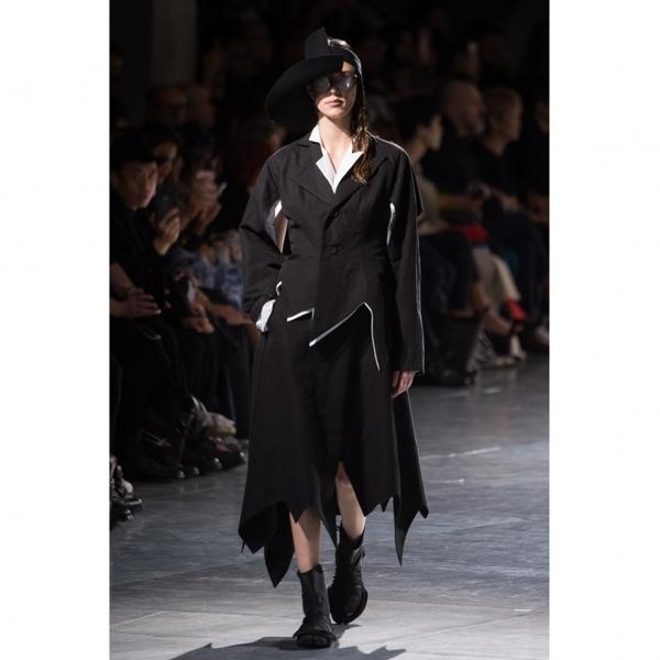 ヨウジヤマモト ファムYohji Yamamoto FEMME シャツ地変形カッティングデザインジャケット 白1【中古】 【レディース】