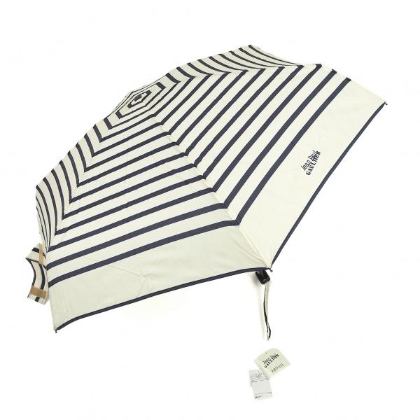ジャンポールゴルチエJean Paul GAULTIER マリンボーダー折りたたみ傘 生成り紺【中古】 【レディース】