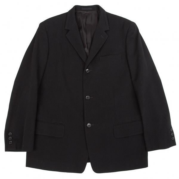 ワイズフォーメンY's for men ウールコットンツイルラペルデザインジャケット 黒2【中古】 【メンズ】