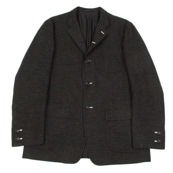 コムデギャルソン オム ウールリネン製品洗いパッチポケットジャケット チャコールL【中古】 【メンズ】
