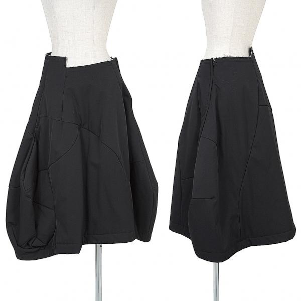 コムデギャルソンCOMME des GARCONS ウールギャバ中綿変形スカート 黒XS【中古】 【レディース】