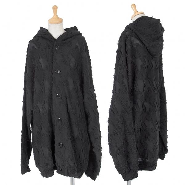 ワイズY's ジャガードフーディーロングウールジャケット 黒2【中古】 【レディース】
