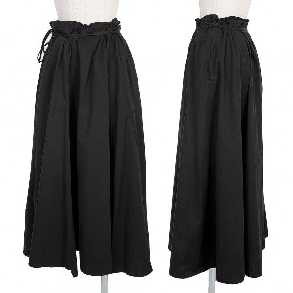 ヨウジヤマモト ノアールYohji Yamamoto NOIR コットンフレアースカート 黒1【中古】 【レディース】