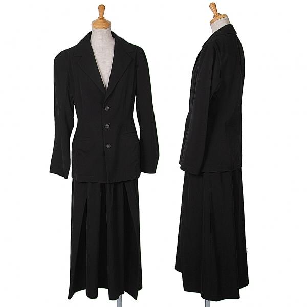 ワイズY's ウールギャバ3Bセットアップスーツ 黒2・3【中古】 【レディース】