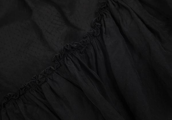 ジャンポールゴルチエ ファムJean Paul GAULTIER FEMME 切替デザインキュプラスカート 黒40レディースID2E9H