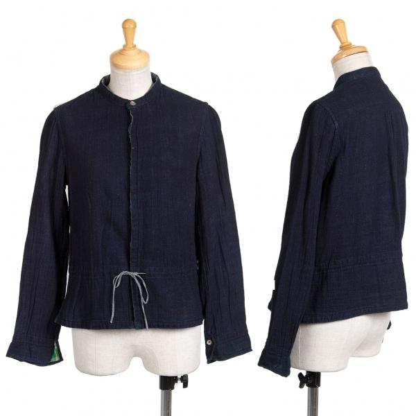 45rpm 裏チェックインディゴ染めスタンドカラーシャツ 紺1【中古】 【レディース】