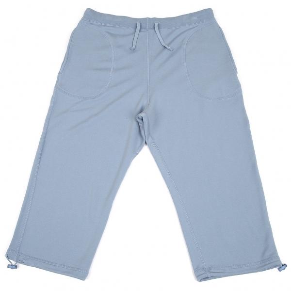 パパスPapas テンセルコットンクロップドイージーパンツ 水色 ブルー50L【中古】 【メンズ】