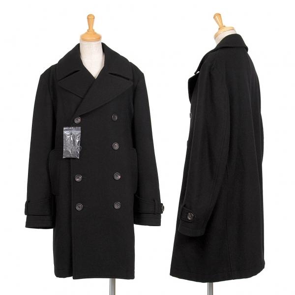 ワイズY's メルトンウールダブルブレストコート 黒3【中古】 【レディース】