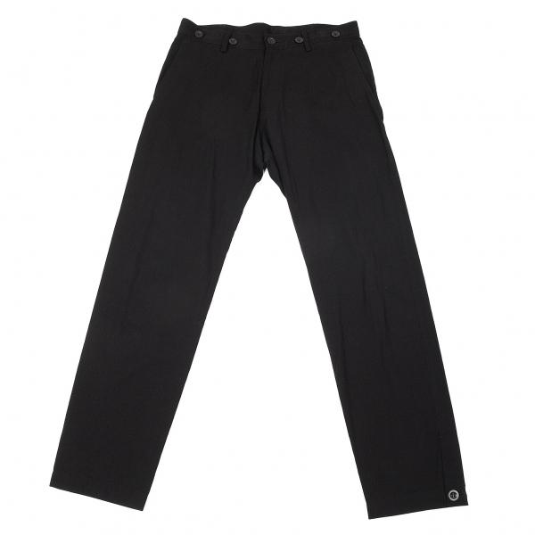 ワイズY's コットンレーヨン裾ボタンパンツ 黒2【中古】 【レディース】