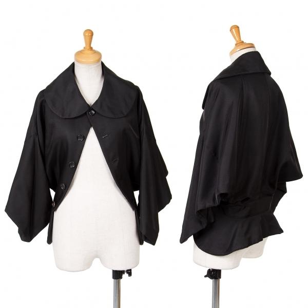 コムデギャルソンCOMME des GARCONS 上下シンメトリーデザインジャケット 黒S【中古】 【レディース】