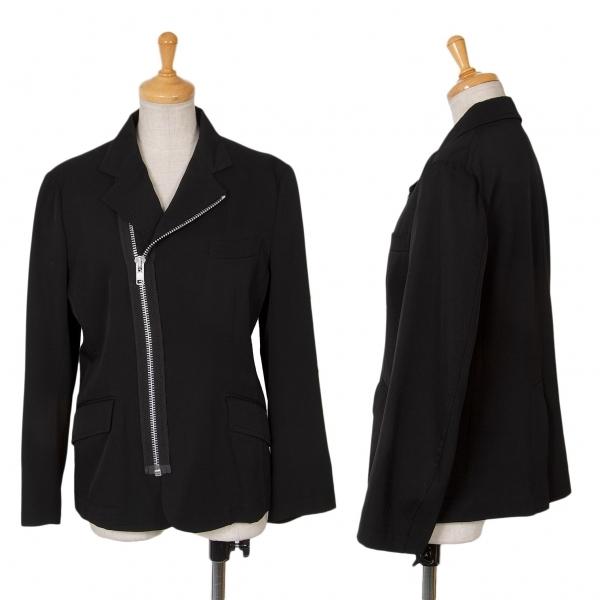 トリコ コムデギャルソンtricot COMME des GARCONS ウールギャバライダースデザインジャケット 黒S【中古】 【レディース】