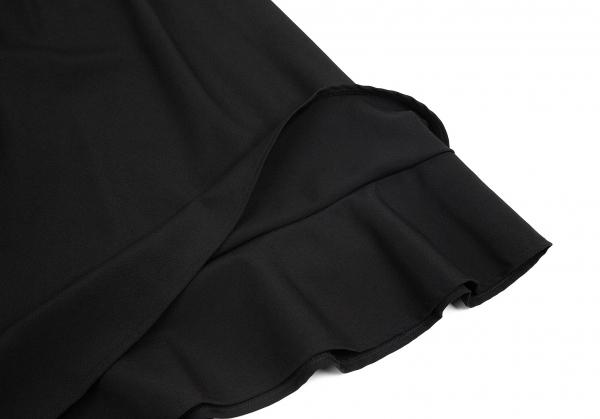 トリココムデギャルソンtricot COMME des GARCONS ウール裾二重切替スカート 黒Sレディース8myv0ONwn