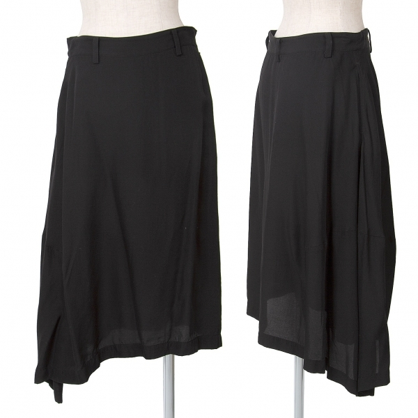 ワイズY's キュプラシルクサイドダーツ変形スカート 黒1【中古】 【レディース】