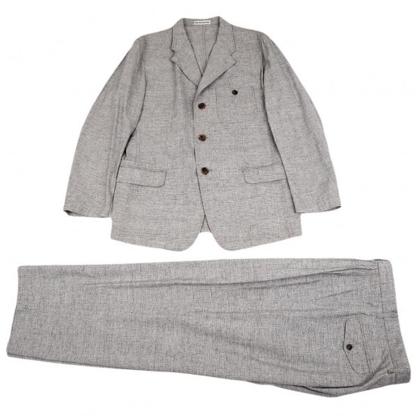 イッセイミヤケ メンISSEY MIYAKE MEN コットンサマーセットアップスーツ 杢グレーXL【中古】 【メンズ】