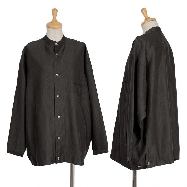 ワイズY's 厚生地レーヨン長袖ワイドデザインシャツジャケット こげ茶L位【中古】 【レディース】
