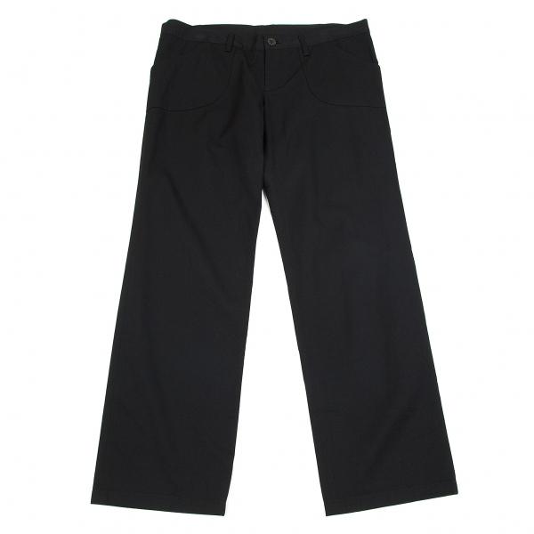 ワイズY's 混紡ストレートパンツ 黒4【中古】 【レディース】