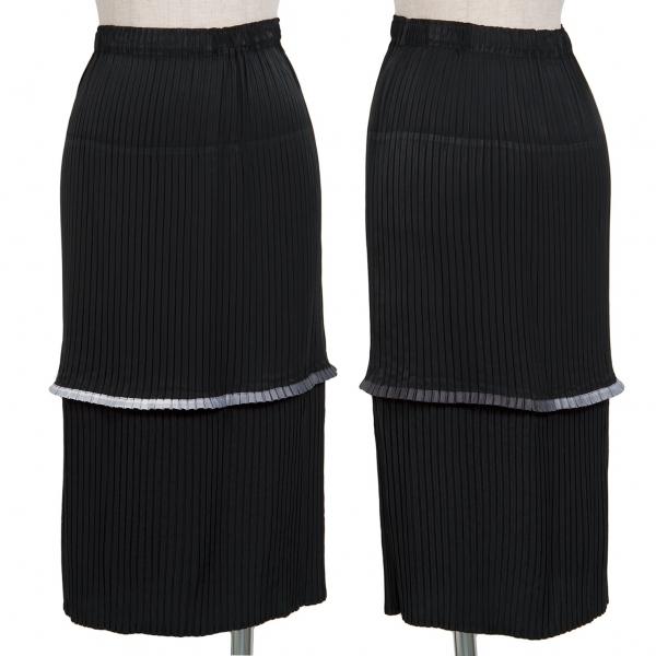 イッセイミヤケISSEY MIYAKE 切替デザインスカート 黒M位【中古】 【レディース】