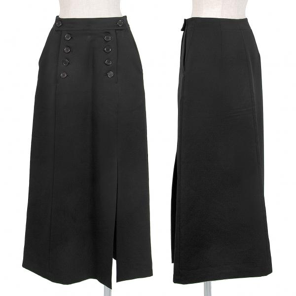 ズッカzucca ポリエステルセーラーボタンスカート 黒M【中古】 【レディース】