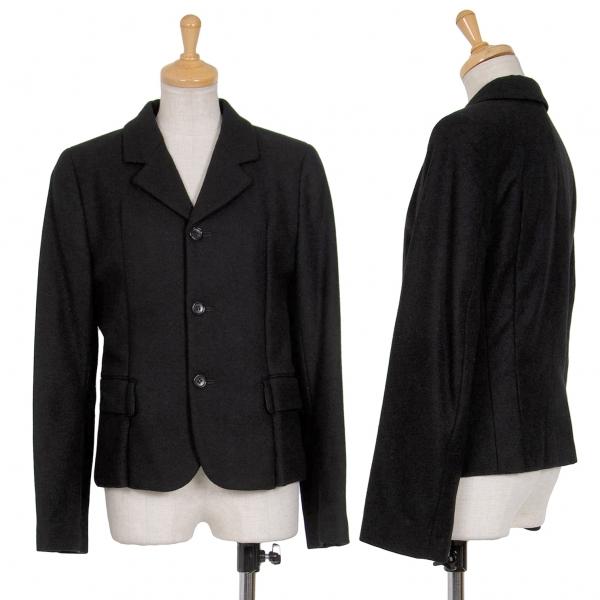 コムデギャルソンCOMME des GARCONS ウールダーツデザインジャケット 黒S【中古】 【レディース】