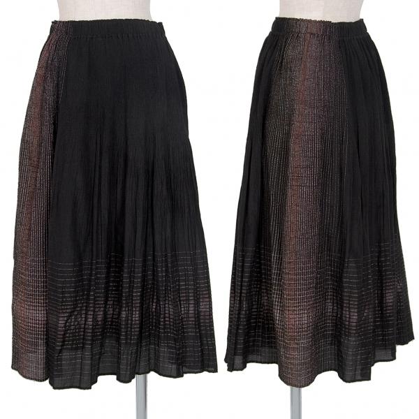 イッセイミヤケ ハートISSEY MIYAKE HaaT フェードラインデザインスカート 黒2【中古】 【レディース】