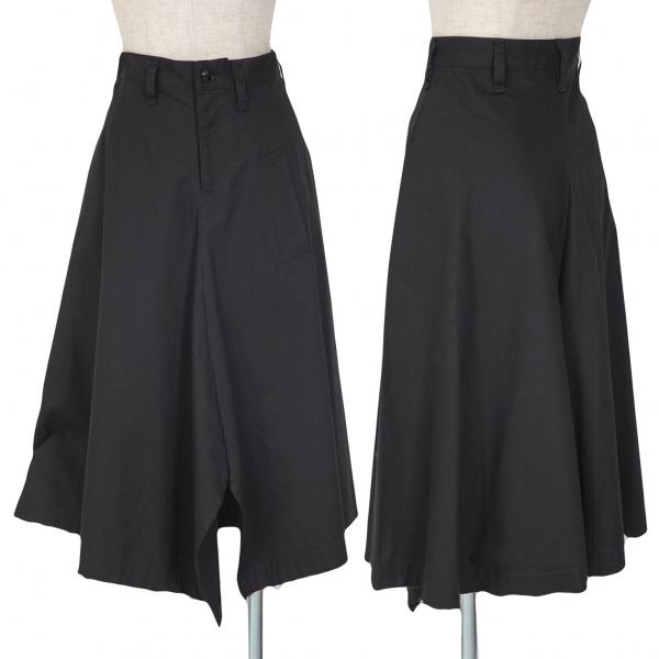 ワイズY's コットン裾断ち切りフレアスカート 黒1【中古】 【レディース】