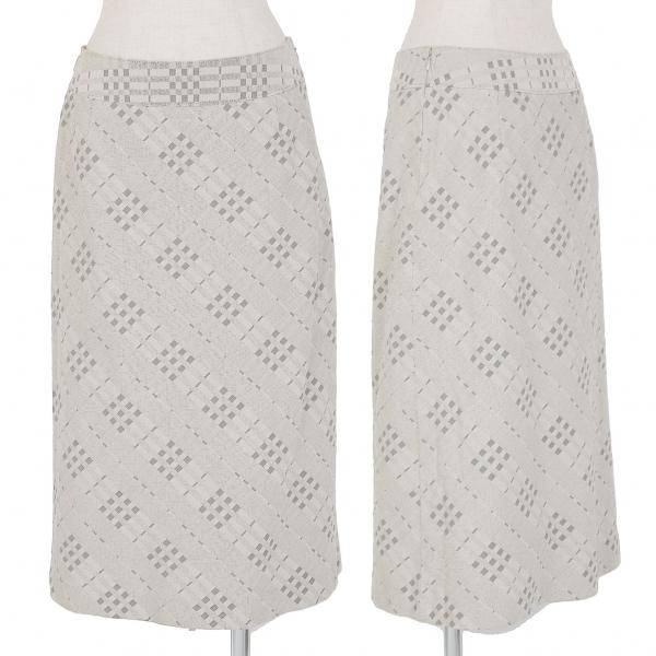 バーバリーBURBERRY LONDON コットンチェック織りスカート グレー40【中古】 【レディース】