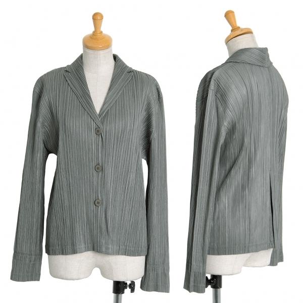 プリーツプリーズPLEATS PLEASE プリーツ3Bシャツジャケット カーキ3【中古】 【レディース】
