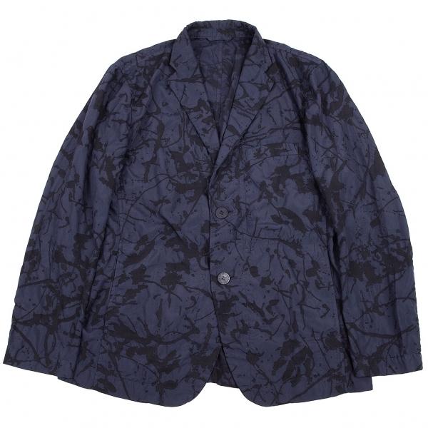 イッセイミヤケ メンISSEY MIYAKE MEN スプラッシュプリントジャケット 紺黒2【中古】 【メンズ】