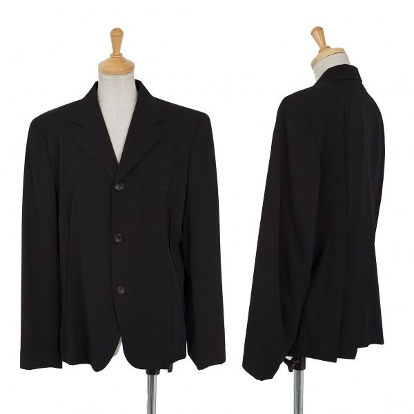 トリココムデギャルソンtricot COMME des GARCONS ウールギャバランダムダーツデザインジャケット 黒M【中古】 【レディース】