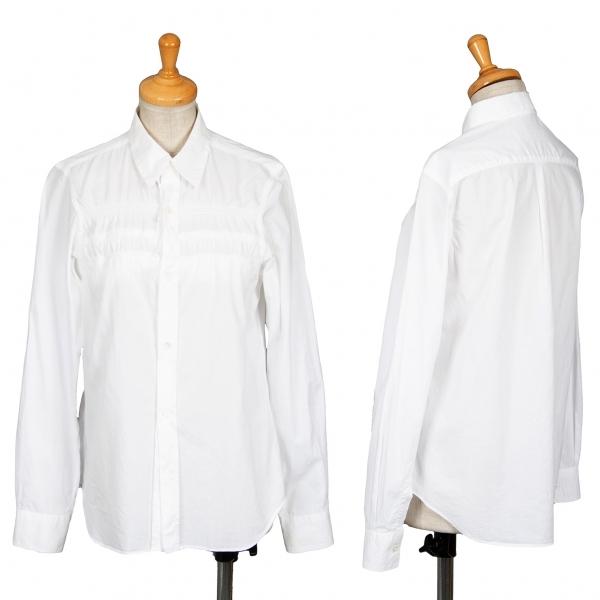 コムコム コムデギャルソンCOMME des GARCONS 裏フリルデザインシャツ 白M位【中古】 【レディース】