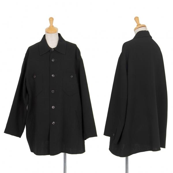 イッセイミヤケISSEY MIYAKE サマーウールカバーオールジャケット 黒M位【中古】 【レディース】