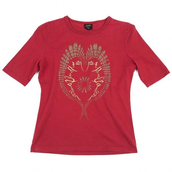 ジャンポールゴルチエ ファムJean Paul GAULTIER FEMME グラフィックプリントTシャツ 赤40【中古】 【レディース】